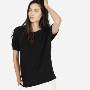 Everlane the cotton sweater short sleeve black top